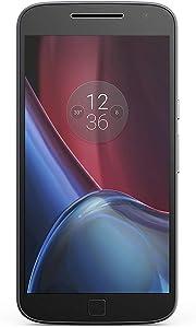 Motorola Moto G4 Plus XT1642 4G LTE Dual SIM Factory Unlocked No Warranty Octacore (NO CDMA) 5.5 Inches (Black, 16GB)