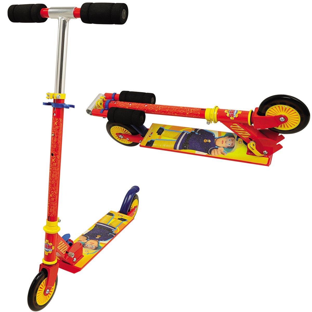 Unbekannt Roller Feuerwehrmann Sam, flüsterleise Räder Räder Räder breite Trittfläche - Feuerwehrmann Sam Kinder Roller Tretroller Cityroller Scooter Fahrzeug Klappbar 8d2a35