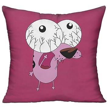 Coraje el perro cobarde personalidad sofá cama decoración del hogar Throw Funda De Almohada abrazo almohada de peluche: Amazon.es: Hogar