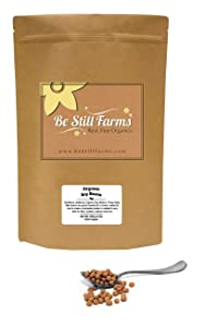 Be Still Farms Organic Soybeans (2lb) Raw Soy Beans are Organic Beans and Non GMO - aka Soya Bean - Crush into Soybean Powder- Easily Sprouting Soybeans- Bulk Soy Beans