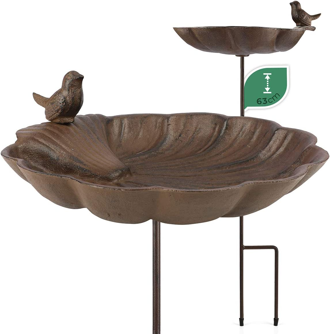 WILDLIFE FRIEND   Bebedero para pájaros con pie para baño para pájaros – resistente a la intemperie, cuenco para comederos, comedero para pájaros – Gran bebedero de agua de pie