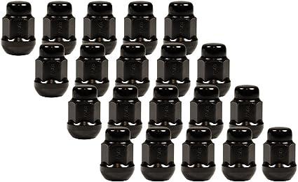 Gorilla Automotive Products 38433XLBC Ball Seat Wheel Lock System Black Chrome Set of 20 12mm x 1.50 Thread