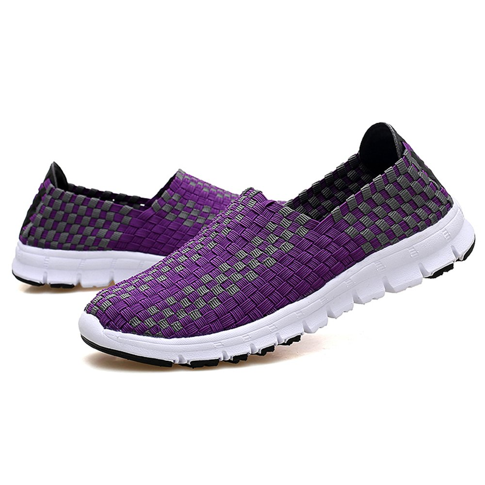 YMY Women's Woven Sneakers Casual Lightweight Sneakers - Breathable Running Shoes B07DXXPDSM EU39/8.5 B(M) US Women|Purple1