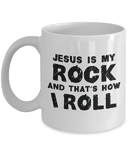 Amazon com: Christian Inspirational Coffee Mug - Jesus Is My Rock