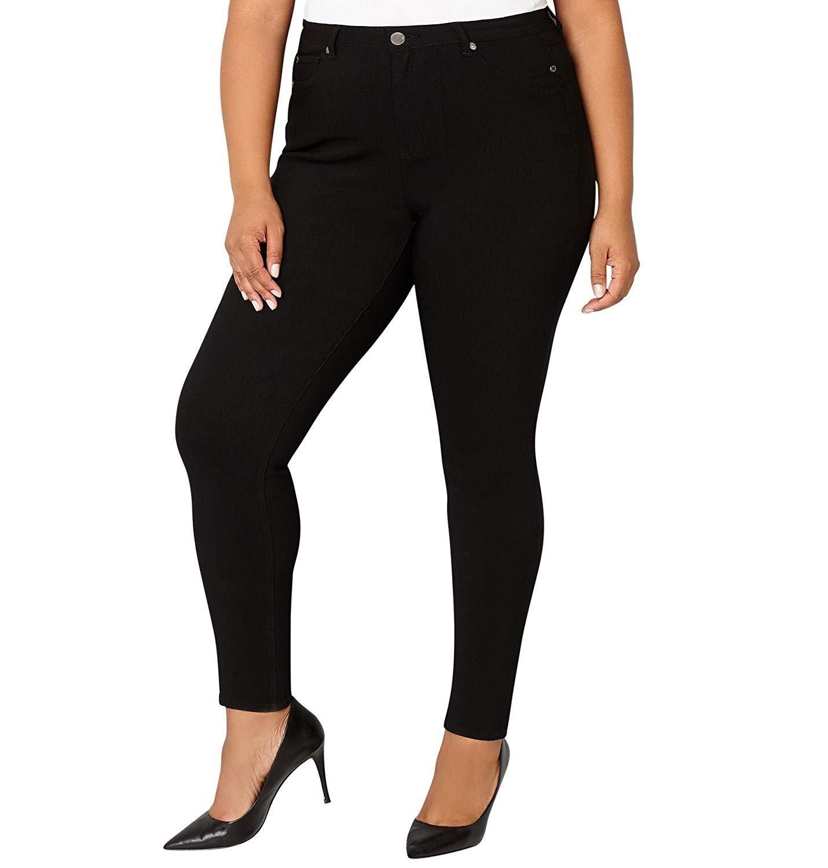 NEW 1826 Stretchy premium BLACK denim jeans HIGH WAIST WOMENS PLUS SIZE pants SKINNY LEG size - 14-16-18-20-22 (PL-880) (18)