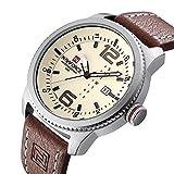 Men's Quartz Military Sports Watches Men Date Clock Man Casual Leather Big dial Wrist Watch N9063S