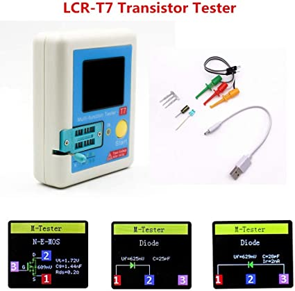 Arceli Lcr T7 Transistor Tester Tft Diode Triode Kapazitätsmesser Lcr Esr Meter Sport Freizeit