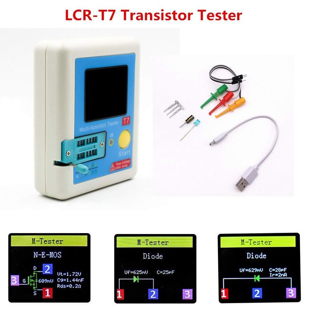 ARCELI LCR-T7 probador de transistores TFT diodo triodo capacitancia medidor LCR ESR Meter