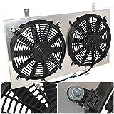 7 radiator fan - For Mazda RX7 FD FD3S JDM Manual MT Transmisson Aluminum Radiator Dual 12
