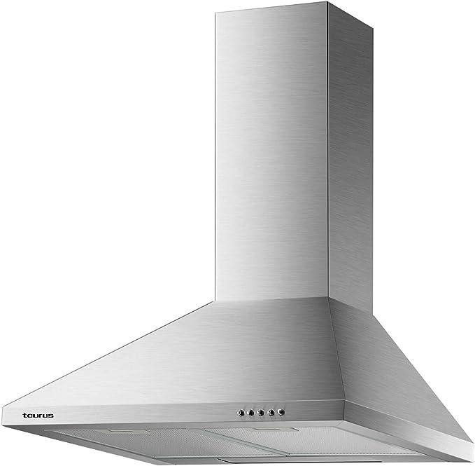 Taurus Gallery 60 - Campana extractora decorativa 60 cm de 550 m3/h, 3 niveles de extracción, 2 filtros de aluminio de 5 capas: Amazon.es: Hogar