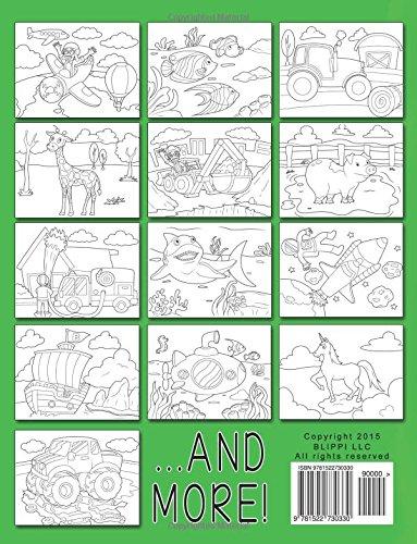 Blippi Coloring Book Animals Machines Blippi Stevin John