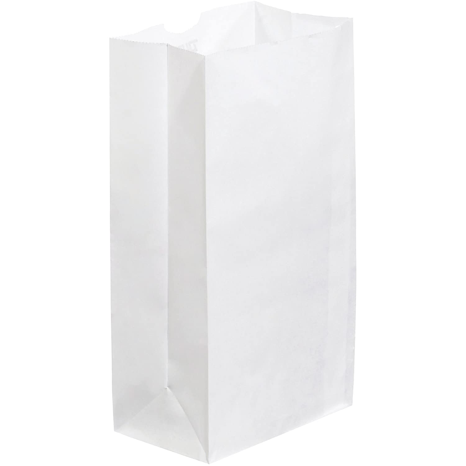Grocery Bags 500//Case 6 1//8 x 4 x 12 3//8 White