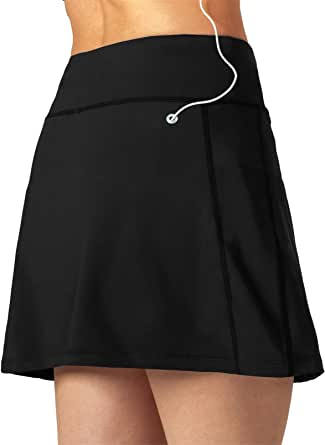 KISSOURBABY Women's Running Skort, Lightweight Active Skirts with Shorts Pockets Tennis Golf Workout Sports
