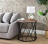 Indoor Multi-Function Accent Table Study Computer Home Office Desk Bedroom Living Room Modern Style End Table Sofa Side Table Coffee Table Hexagon chair side table