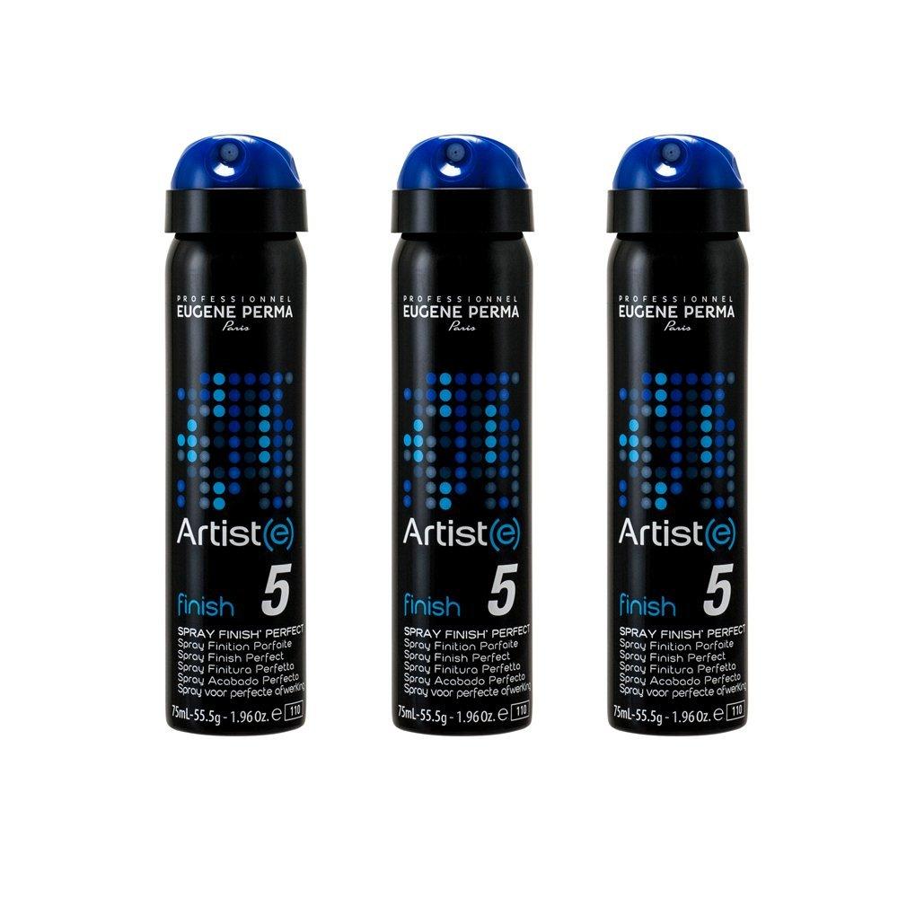 EUGENE PERMA Professionnel Spray Finish' Perfect Artist(e) Spray de Coiffage à Fixation Extra-Forte Format Voyage 75 ml - Lot de 3 21032938