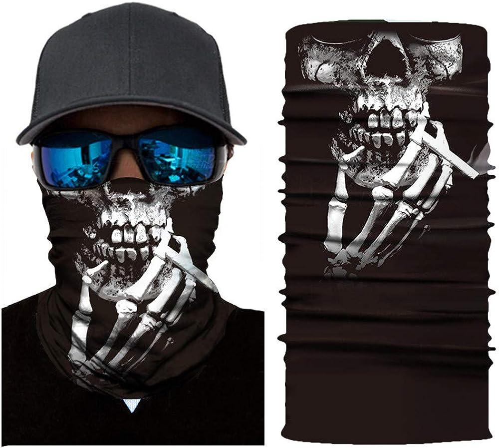 MEIbax Al aire libre 3D Balaclava Moto Pasamonta/ñas Calavera Multifuncional Bufanda Prueba de Viento Microfibra El/ástico Pa/ñuelos Cabeza Bandana Esqu/í Ciclismo Bici M/áscara Facial Protecci/ón UV