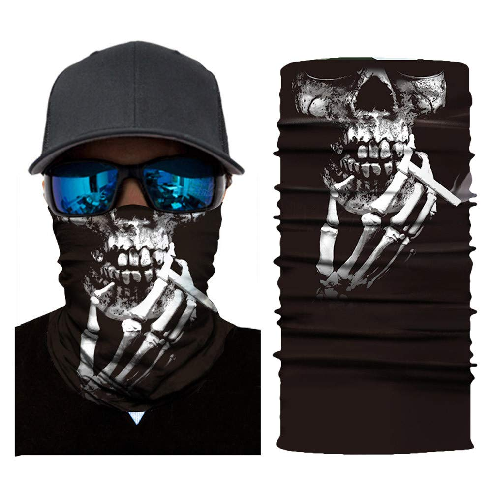 Unique Riding Mask Cycling Motorcycle Neck Tube Ski Scarf Face Mask (E)