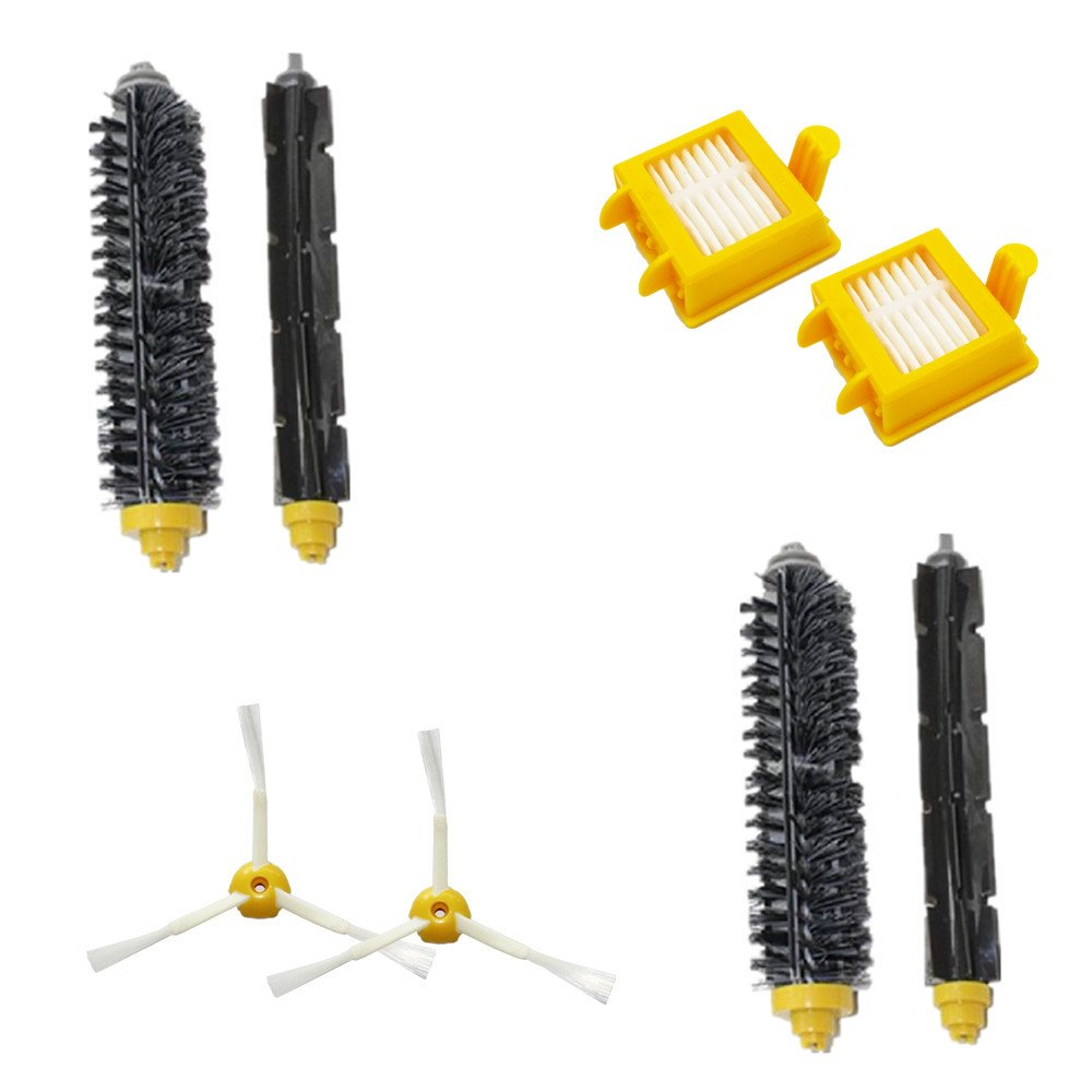 LOVE(TM)Vacuum Cleaner Replacement Kits Hepa Filter Bristle Brush 6-Armed Side Brushes For Robot 700 series 760 770 780