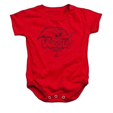 819a51278 Amazon.com: Woody Woodpecker Big Head Baby Onesie: Clothing