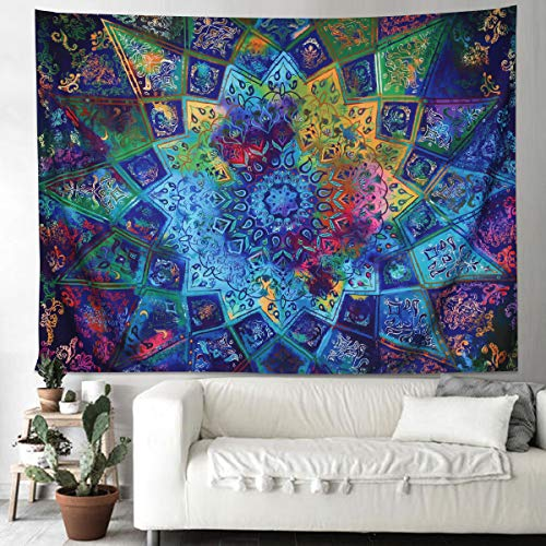 Supermee Tapestry Wall Hanging Nature Tapestry Wall Library Art Home Decor Bedroom Kitchen Living Room Dorm Decor (Cool Mandala01, 79X59)