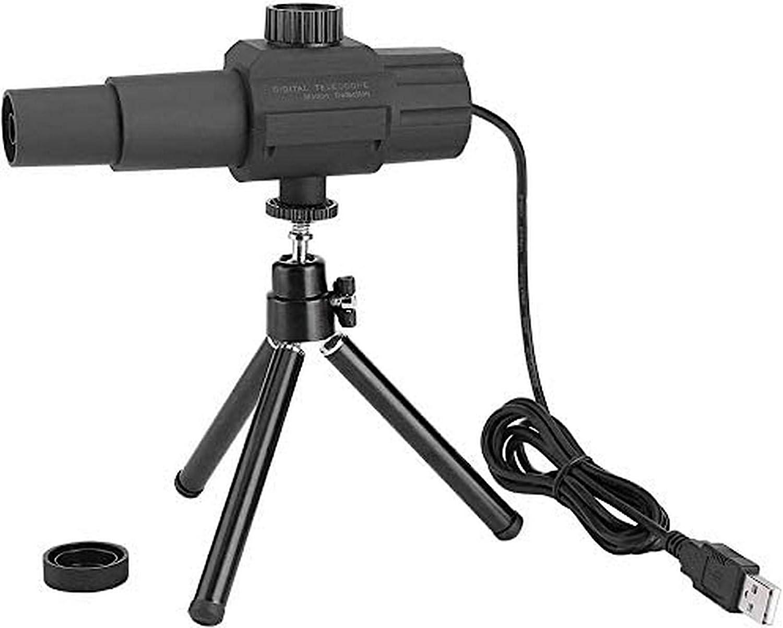 Telescopio De Cámara, 2 Megapíxeles Lente con Zoom De 70 Veces Detección Inteligente De Movimiento Telescopio Digital USB con Trípode, para Observación De Competencias Deportivas
