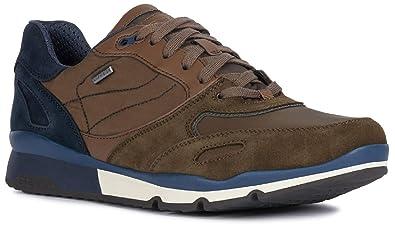 Geox Sandford U44S7A Sneaker da Uomo con Lacci, in Pelle