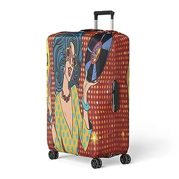 a7df5f5bf8e6 Amazon.com: Pinbeam Luggage Cover Entertainment Disco Diva Retro ...