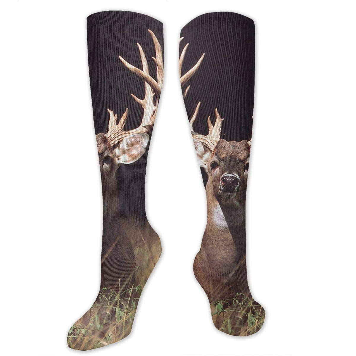 Trophy Buck Deer with Big Rack Mens//Womens Sensitive Feet Wide Fit Crew Socks and Cotton Crew Athletic Sock
