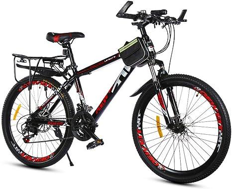 26 Pulgadas Suspensión Delantera Freno De Disco Doble Todoterreno Adultos De Velocidad Variable Bicicleta De Montaña,Rojo: Amazon.es: Deportes y aire libre