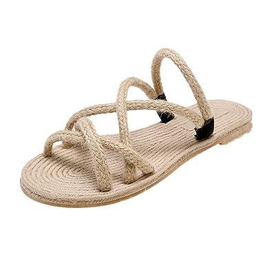 bene godere del prezzo più basso varietà di stili del 2019 TTMall Sandali Estivi Donna Pantofole di Lino Naturale con ...
