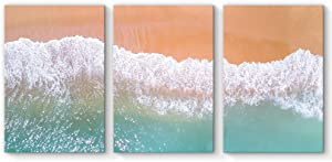 """SIGNFORD 3 Piece Canvas Wall Art for Living Room Bedroom Home Artwork Paintings Romantic Beach Ready to Hang - 16""""x24"""" x 3 Panels"""