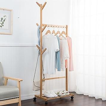 Panet Aufhänger Boden Kleiderständer Schlafzimmer Massivholz ...