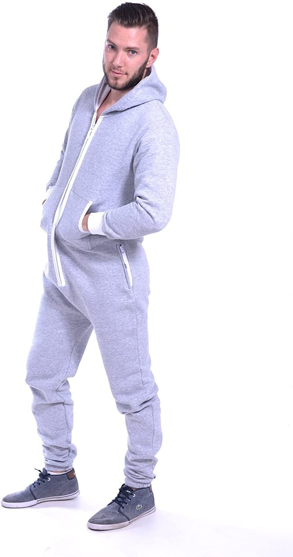 newfacelook Herren Onesie Jumpsuit Einteiler Schlafanzug Schlafoveralls Herren Fleece Overall