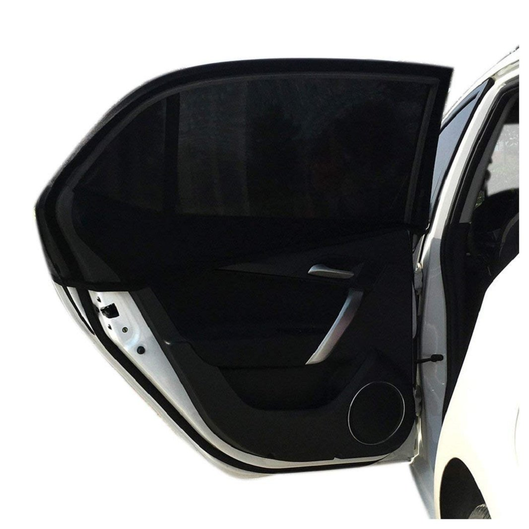 db8ac61e7ded Amazon.com: Iuhan Car Window Shade, 1PC Car Rear Window UV Mesh Sun Shades  Blind Kids Children Sunshade Blocker Black, Stretched Size Approx 100cm  x54cm: ...