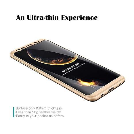GoodcAcy Funda Samsung Galaxy S9 Plus,Carcasa Móvil de Protección de 360°+ Cristal Templado HD Protector de Pantalla 3 en 1 Desmontable con Caso Case ...