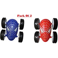 Siddhi Vinayak™ Super Stylish Spider Man Two Sided Push and go Stunt car Pack of 2 pcs