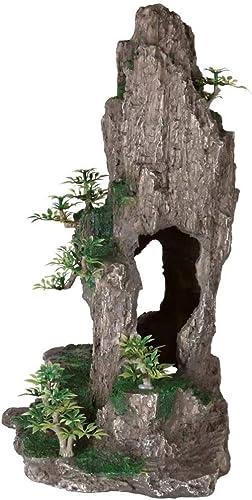 Trixie-Felsen-mit-Höhle-und-Pflanzen