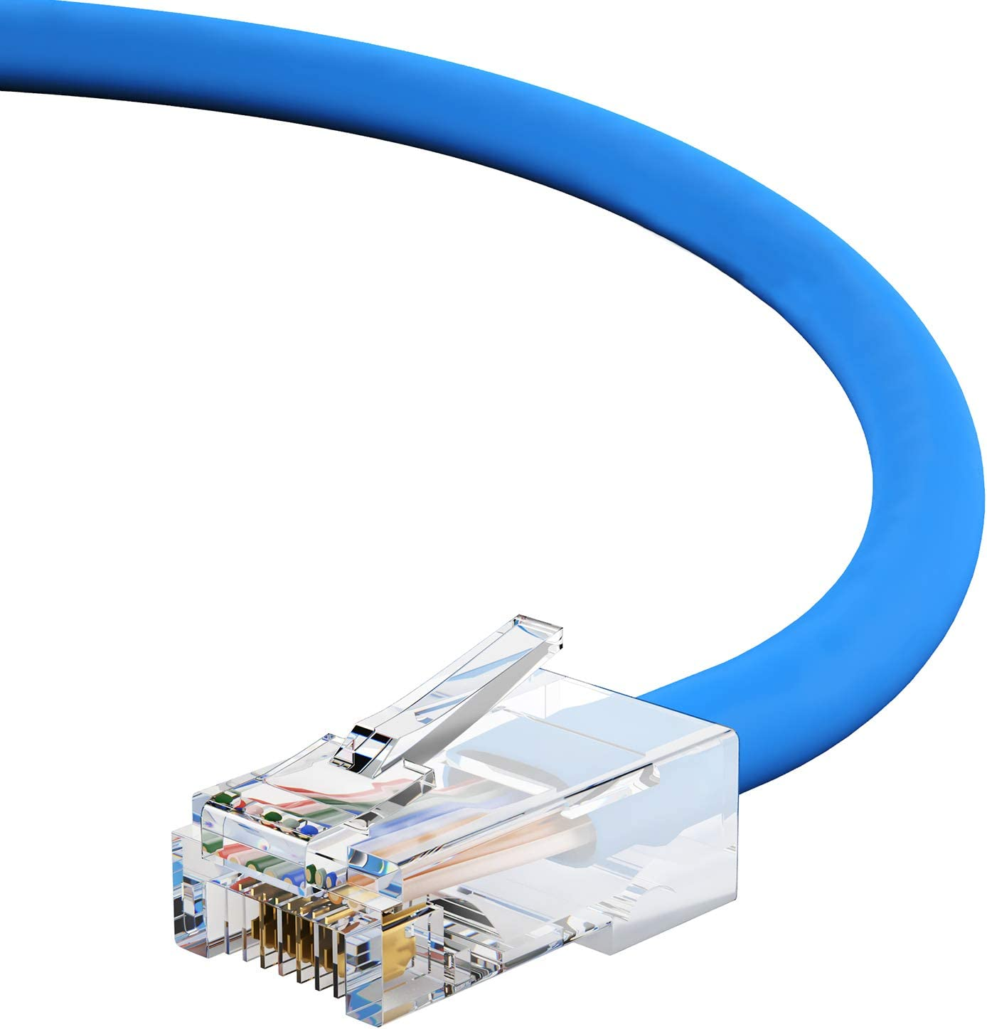 Black 1Gigabit//Sec High Speed LAN Internet//Patch Cable 24AWG Network Cable with Gold Plated RJ45 Non-Booted Connector 350MHz 50-Pack - 0.5 Feet GOWOS Cat5e Ethernet Cable