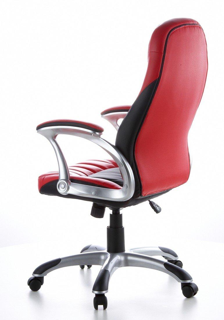 Hjh OFFICE 621300 621300 621300 Gaming PC Stuhl RACER 200 Kunstleder rot schwarz, feste Polsterung, ideal zum Zocken, Chefsessel, feste Armlehnen, Bürostuhl Sessel, XXL Chefsessel, Gamer Stuhl 5c3748