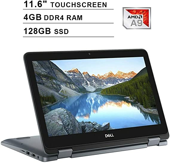 2020 Newest Dell Inspiron 11 3195 2-in-1 11.6 Inch Touchscreen Laptop (AMD A9-9420e up to 2.7GHz