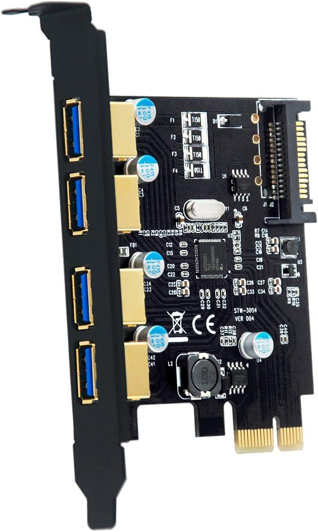 adaptador PCI Express SATA 3.0 6 GB // s PCIE 2.0 a controlador de expansi/ón SATA III ELUTENG Tarjeta SATA PCIe de 2 puerto compatible con SSD HDD de escritorio. 2 cables SATA