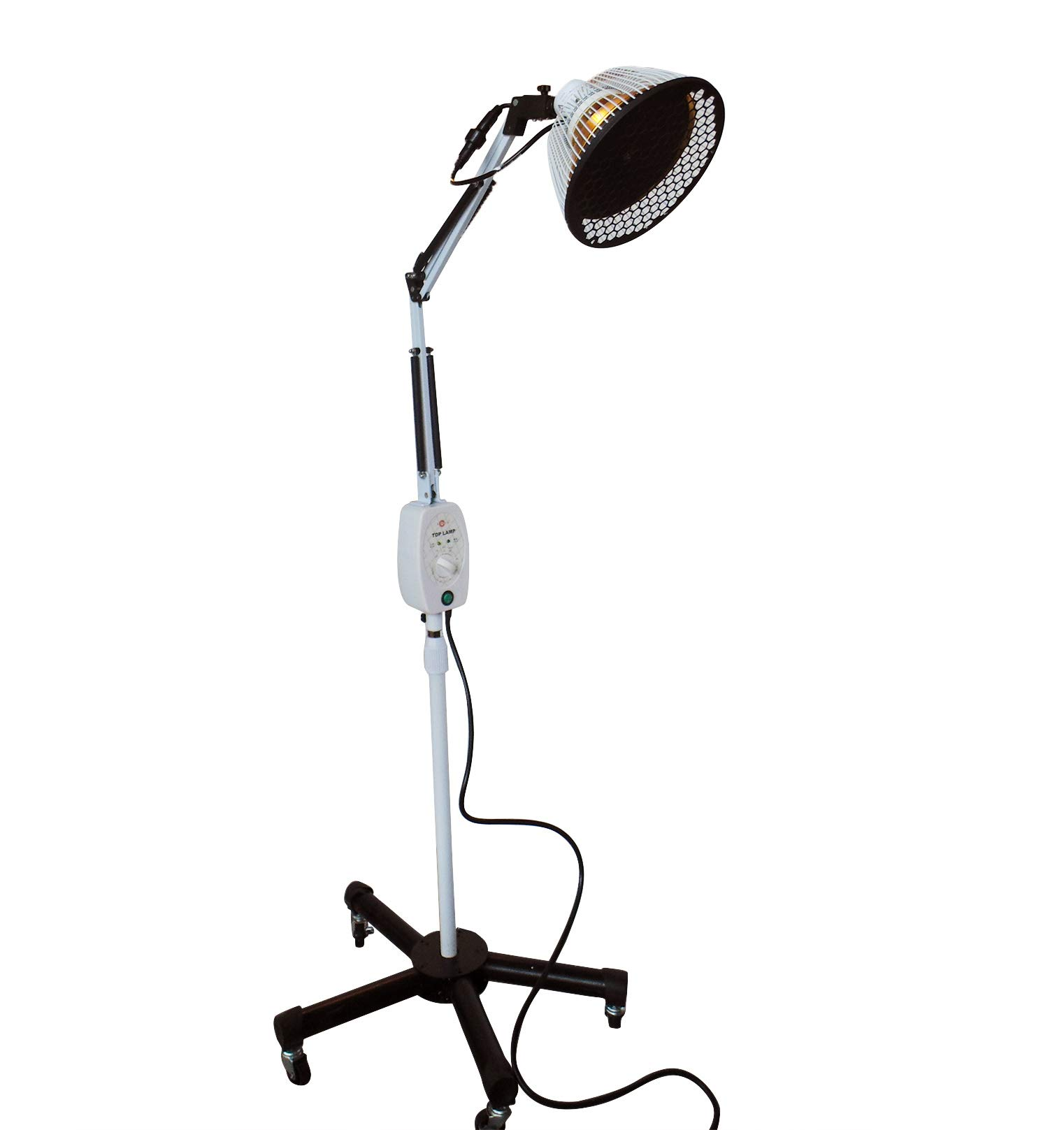Improved TDP Lamp CQ222 - Genuine 6.5 inch Mineral Plate by VITA Activate | 3rd Generation Mineral Lamp is Best + Detachable Head + Protection Cap by CHISOFT
