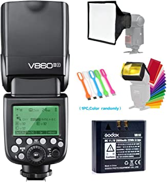 GODOX V860II-F TTL Camera Flash GN60 High-Speed Sync 1//8000s 1.5S Recycle Time 650 Full Power Flashes with 2000mAh Rechargeable Battery Flash Speedlight for Fuji Fujifilm X-T2 X-A5 X-S1 X-E3 X-T100