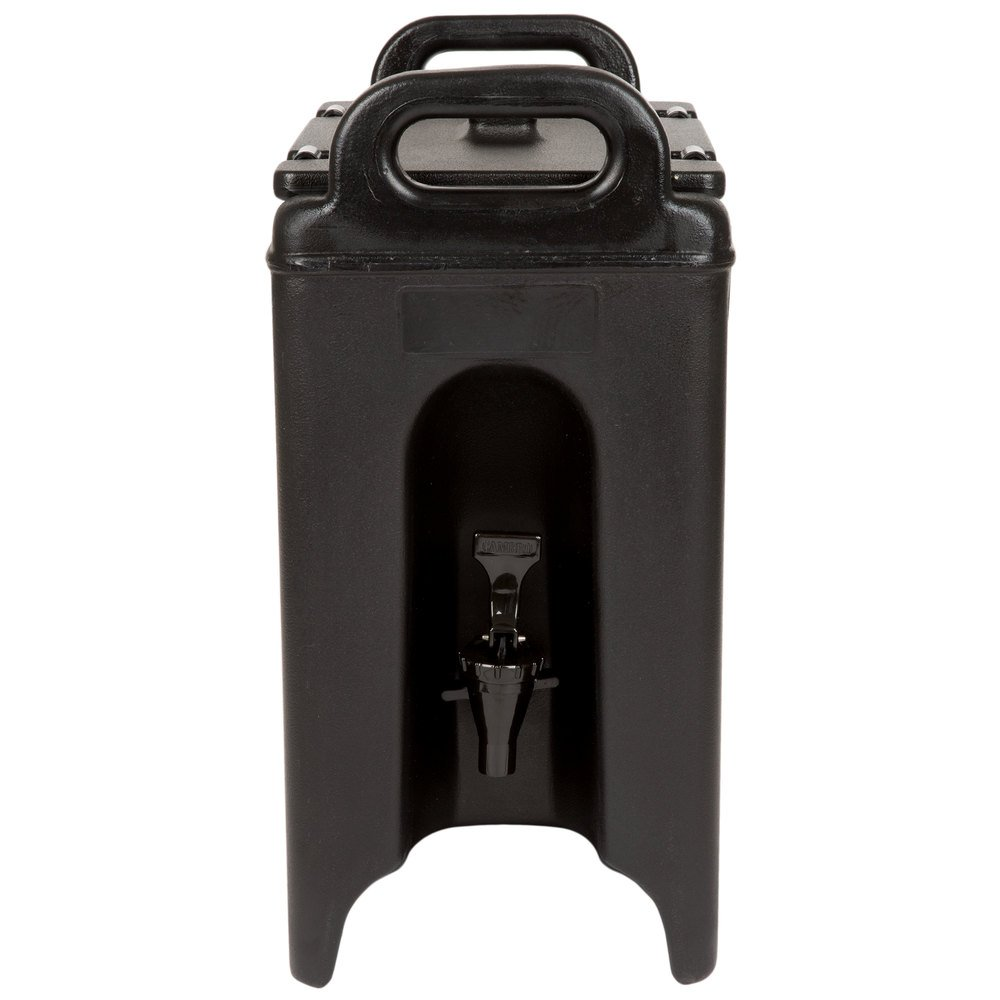 Cambro 250LCD110 Camtainer 2.5 Gallon Black Insulated Beverage Dispenser Case of 1