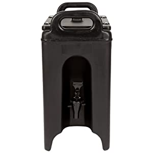 Cambro 250LCD110 Camtainer 2.5 Gallon Black Insulated Beverage Dispenser