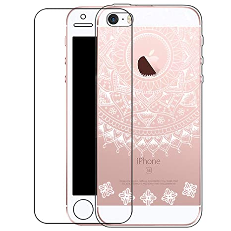 Zeattain Funda iPhone SE/5/5S Carcasa Transparente Silicona ...