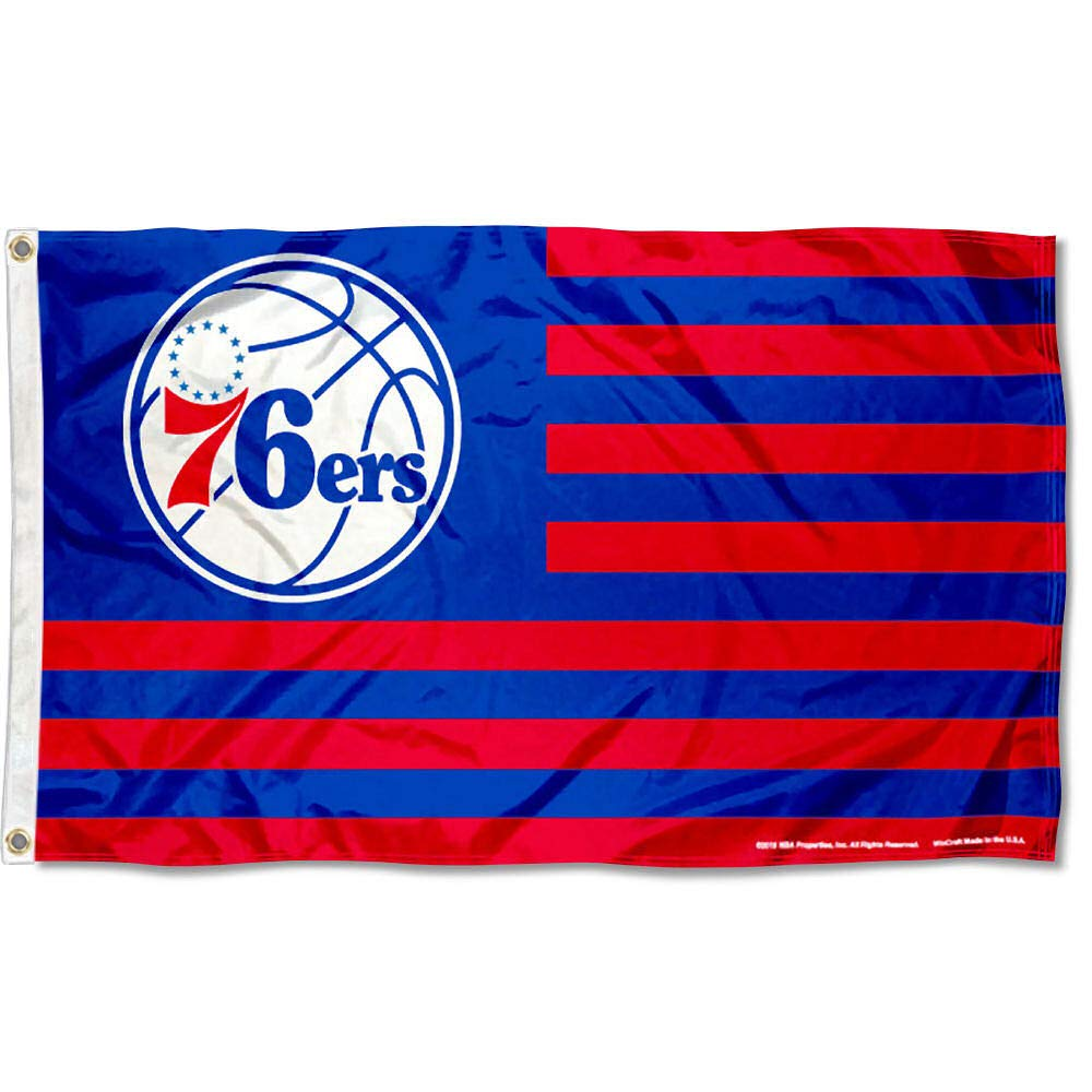 WinCraft Philadelphia 76ers Americana Stripes Nation 3x5 Flag