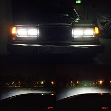 Amazon Com Bicyaco 4 Pcs Dot Approved 60w 4x6 Inch Led Headlights