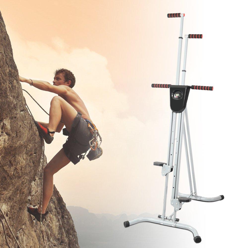 Folding Exercise Climbing Machine for Home Gym Step Climber with Counter Apelila Total Gym Vertical Climber,Step Climber Vertical Climber Exercise Machine