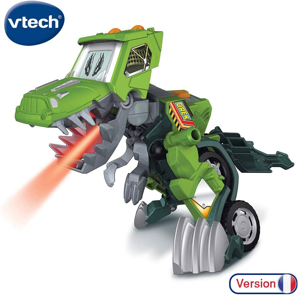80-195205 VTech- Switch /& GO Dinos-DREX Voiture//Dinosaure 80-197205 Multicolore /& Switch /& GO Dinos-BRUTOR Voiture//Dinosaure Version Fran/çaise Multicolore